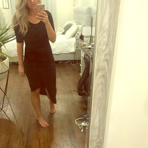 Forever 21 small dress black with silver detail